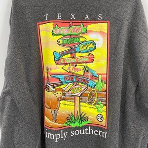 Simply Southern Texas State long sleeve t'shirt